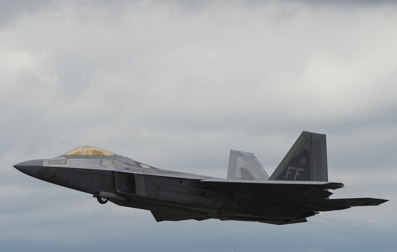 The United States Shows Off Its Fleet of F-22s