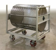 Billet mixer cart for truck-in oven