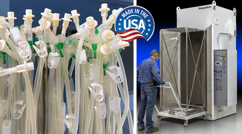 Catheters with Despatch PRC2-163 catheter Curing Oven - MAde in USA