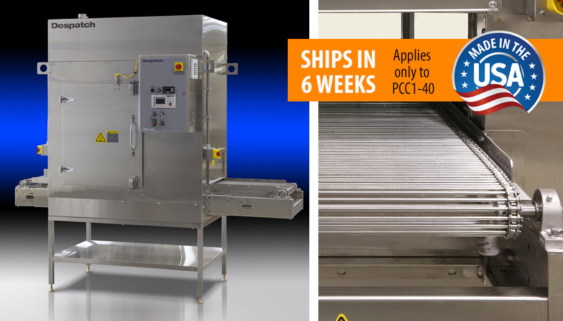 Despatch PCC1-40 stainless steel Conveyor Oven with HEPA filter - Made in USA, Ships in 6 weeks