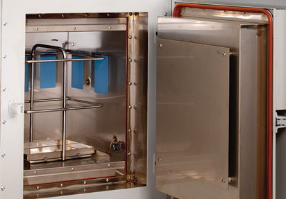 PRVO paint sample drying oven for automotive paint testing