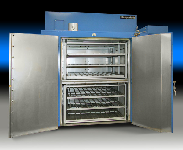 Despatch TAD industrial walk-in oven with dual chamber for thermal curing