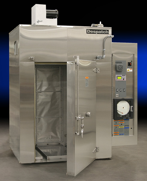 Despatch stainless steel industrial walk-in oven for catheter curing